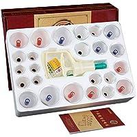 Kays Schröpfen Set 24 Vakuum-Air-Saugnäpfe Mit Pumphandgriff, Chinesische Schröpfen Therapie-Set, Für Rücken/Nackenschmerzen... preisvergleich bei billige-tabletten.eu