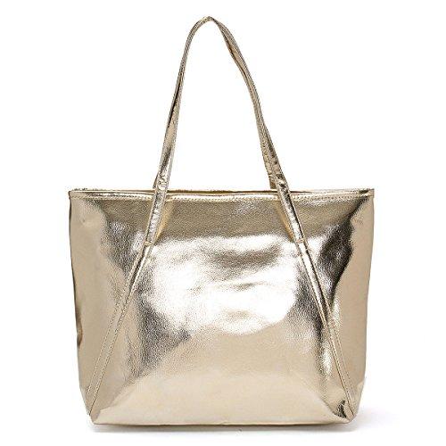 OURBAG Bolsos para mujer Grande Diseñador de moda elegante calidad Bolso para las señoras Gold