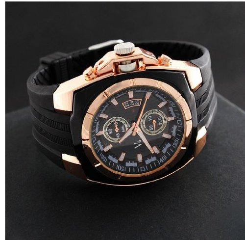 V6 New Hot Fashion Sports Round Dial Analog Wristwatch For Boys Men Gentleman