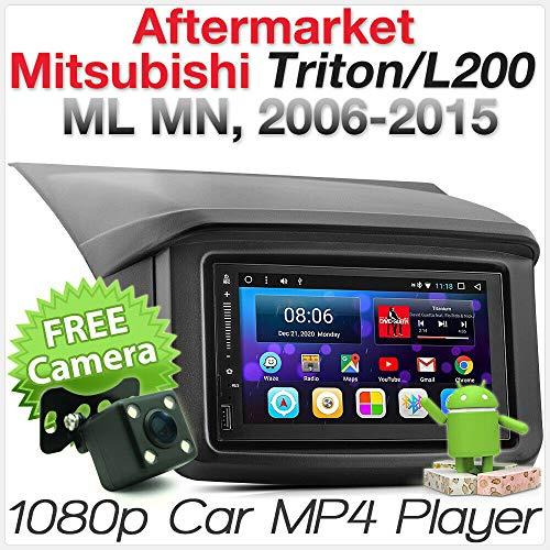 Tunez MP3-Player für Mitsubishi Triton L200 ML MN 4. Generation 2006 2007 2008 2009 2010 2011 2012 2013 2014 2015 GPS Doppel DIN Stereo Radioblende (2015 Auto Doppel Din Stereo)