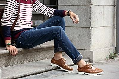Menschwear Men's Winter Heavyweight Stretch Jeans Fleece Lined Slim Fit Straight legs