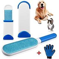 Brosse poil pour chat et chien, brosse poil vetement, brosse poils animaux (Bleu)