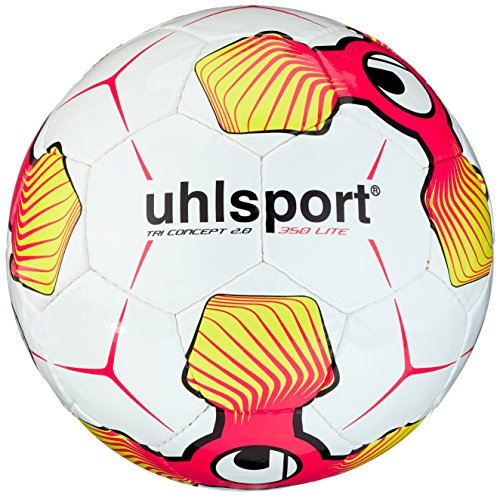 Uhlsport Tri Concept 2.0 350 Lite Balones de Fútbol, Unisex, Blanco, 5