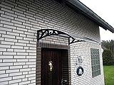 Vordach Haustür Überdachung Haustürvordach Pultdach ca. 122 x 96 cm Türüberdachung
