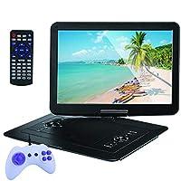 "Portable DVD Player 15.6""Swivel Screen, 8 Hours Long Standby, Support Multi-Format, Region Free, Long Lasting Battery, Support AV-In/AV-Out/SD/USB"