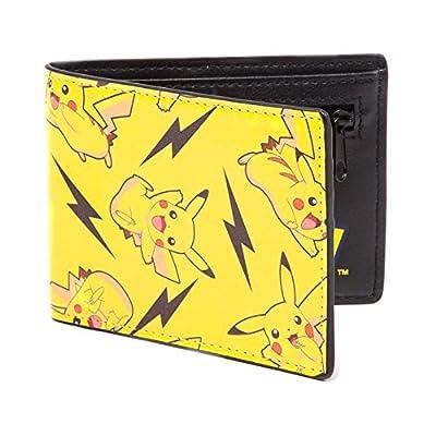 Bioworld POKEMON All-over Pikachu Bi-Fold Wallet Monedero, 12 cm, Amarillo (Yellow) por Redstring Spain