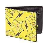 Bioworld POKEMON All-over Pikachu Bi-Fold Wallet Porte-monnaie, 12 cm, Jaune (Yellow)