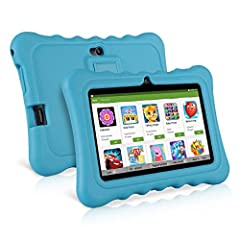 Idea Regalo - Ainol Q88 Tablet per Bambini da 7 Pollici, Android 7.1 RK3126C Quad Core 1GB+8GB Tablet Educativo, con Custodia in Silicone Stander, WiFi Doppia Fotocamera, Blu