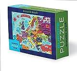 Crocodile Creek 382991-2 Puzzle für Kinder Europakarte, 100-Teile, Größe: 20x30 cm