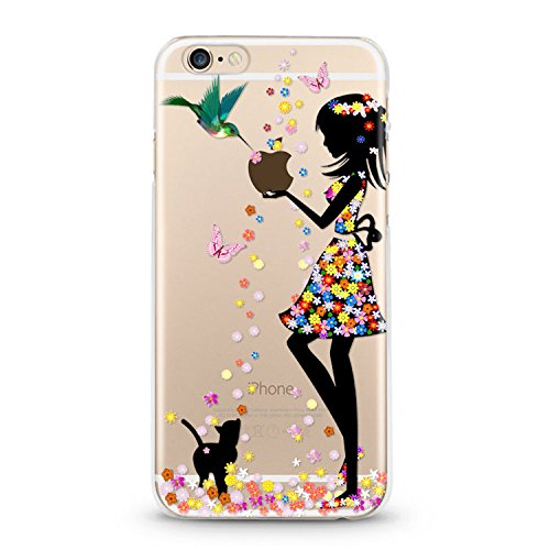 Handyhülle für Apple iPhone 7 ( Anker pink ) - Hülle - Schutzhülle mit Motiv - TPU Silikon Hülle - Case - Cover - Schale - Backcover - Handytasche New Girl