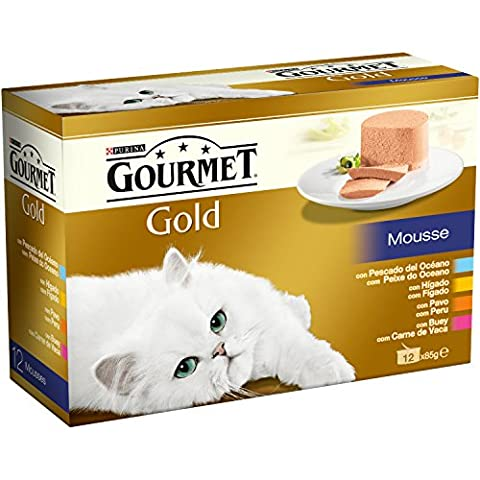Gourmet - GOURMET GOLD Multipack Mousses Assortiments 4 Saveurs - 1.02 Kg