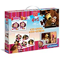 edukit 4 in 1 masha and the bear educational game 3 years+ (italian) (Italian version)