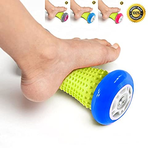 PILAAIDOU Foot & Hand Massage Roller Muscle Roller Stick. Foot Massage Roller for Plantar Fasciitis, Heel & Foot Arch Pain Relief. Trigger Point Massage - Ergonomic Reflexology Massager - Wrists and Forearms Exercise Roller, Recovery Tool for Plantar Fasciitis, Heel Pain