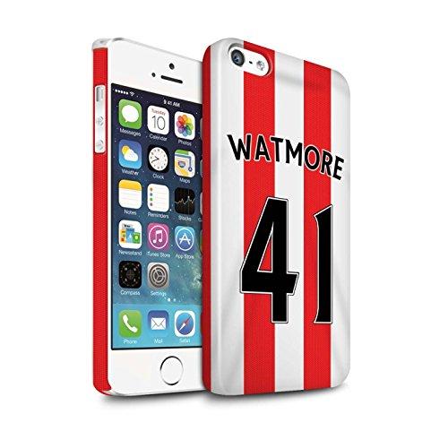 Offiziell Sunderland AFC Hülle / Glanz Snap-On Case für Apple iPhone 5/5S / Pack 24pcs Muster / SAFC Trikot Home 15/16 Kollektion Watmore