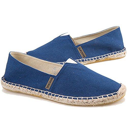 Alexis Leroy Espadrilles Femme décontractées Chaussures Mode Canvas Bleu Foncé