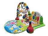 Surrealista 3en 1bebé Piano Play gimnasio alfombra música y luces verde verde