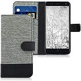 kwmobile bq Aquaris VS Plus Hülle - Kunstleder Wallet Case für bq Aquaris VS Plus mit Kartenfächern und Stand