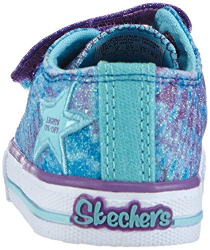 Skechers Shufflespeace N' Love, Baskets Basses fille Turquoise - Türkis (TQMT)