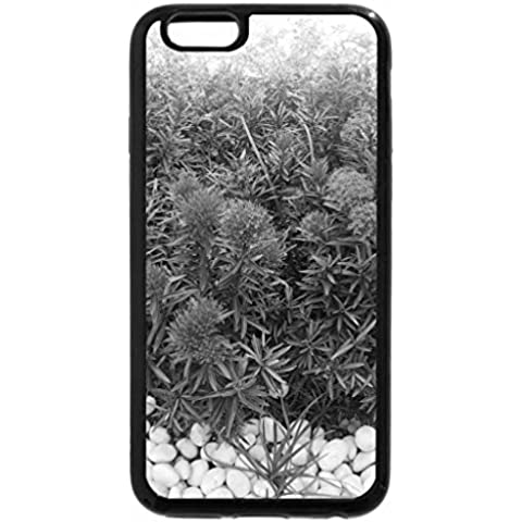 iPhone 6S Plus Funda, iPhone 6Plus (Blanco y Negro), diseño de flores, color rojo y blanco piedras