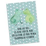 Mr. & Mrs. Panda Postkarte Frosch Liebe - Liebe, Verliebt, Verlobt, Verheiratet, Partner, Freund, Freundin, Geschenk Freundin, Geschenk Freund, Liebesbeweis, Jahrestag, Hochzeitstag, Verlobung, Geschenk Hochzeit, Frosch, Frösche, Froschkönig, Fröschchen Postkarte, Geschenkkarte, Grußkarte, Karte, Einladung, Ansichtskarte, Sprüche
