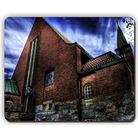 alta-calidad-mouse-pad-iglesia-albanileria-ladrillos-edificio-noche-hdr-juego-oficina-alfombrilla-de
