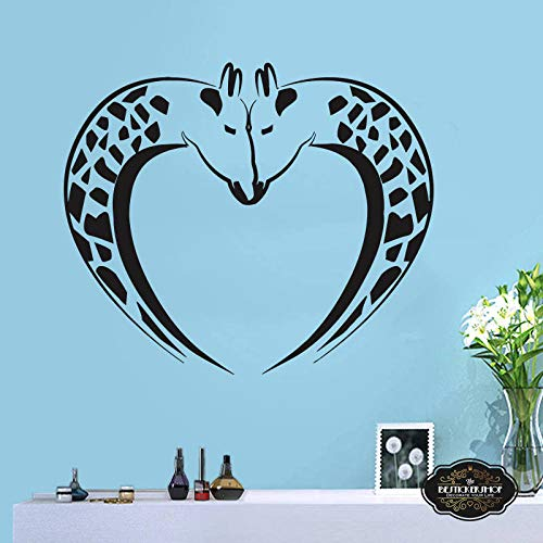 zqyjhkou Handgemachte Wand Stickerafrican Wall Decal afrikanischen Wild Pride Tiere Giraffe Decal Designs Art Office Home Dekoration A3-002 42X55CM