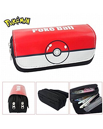 Kids Craze UK Pokeball Pokemon – Estuche con dos compartimentos