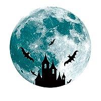 Bamsod Glow in The Dark Moon Wall Stickers 11.8