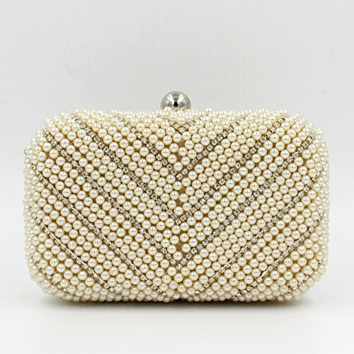 Damen Abendtasche Armband Perle Abendessen Pack Brautkleid-Beutel-beweglicher Partei-Beutel apricot