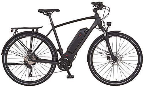 """Prophete ENTDECKER Sport Trekking E-Bike 28"""" Herren Elektrofahrrad, schwarz matt, RH 55 cm"""