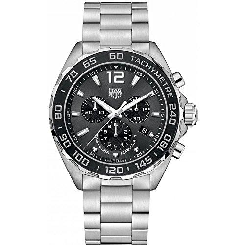 TAG Heuer Men's Formula 1 43mm Steel Bracelet & Case Automatic Grey Dial Analog Watch CAZ1011.BA0842