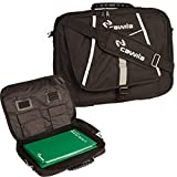 Cawila Trainertasche Trainer Briefcase inklusive Zubehör für Fußball, Schwarz, 31 x 43 x 4 cm,