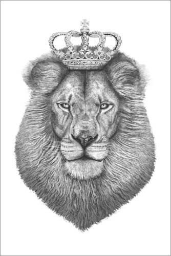 Poster 40 x 60 cm: The King von Valeriya Korenkova - hochwertiger Kunstdruck, neues Kunstposter
