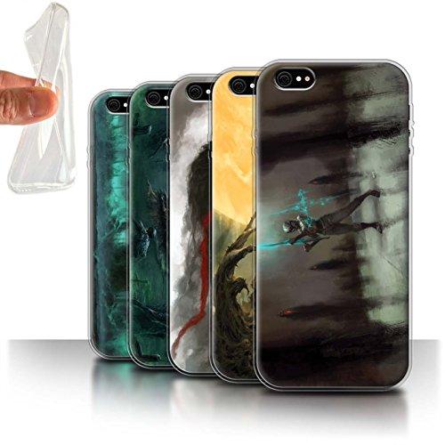 Offiziell Chris Cold Hülle / Gel TPU Case für Apple iPhone 6+/Plus 5.5 / Hades/Phantom Muster / Unterwelt Kollektion Pack 5pcs