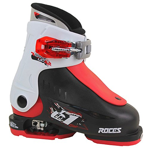 Roces Idea Skischuhe, Unisex Kinder, Idea, Black/White/Red