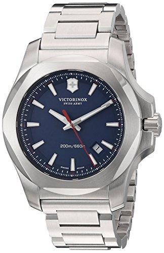'Victorinox Hombres i.n.o.x.' Swiss cuarzo acero inoxidable casual reloj, color: redondas (Modelo: 241724.1)