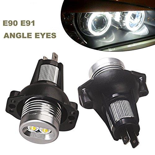 ricoy für E90E912005–20083Serie CREE 6W Angel Eyes LED Halo ring Marker Licht 6000K (2Stück) (Halo-scheinwerfer Nissan)