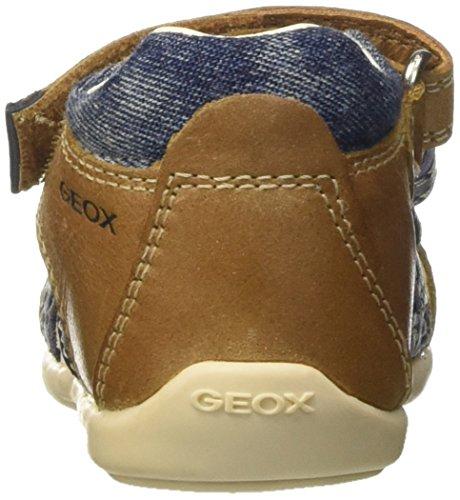 Geox B Kaytan C, Sandales premiers pas bébé garçon Beige (Caramel/Navyc5Gf4)