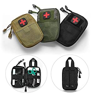 GXYCP 2*Medizinische Tasche EMT Outdoor-Erste-Hilfe-Patch Molle Zubehörtasche Tragbare IFAK-Dienstprogramm Tasche