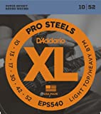 D'Addario EPS540 XL ProSteels Light Top/Heavy Bottom  (.010-.052) Electric Guitar Strings