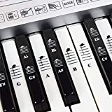 Piano and Keyboard Music Note Full Set Stickers for White and Black Keys with Piano Songs EBook; Transparent and Removable! M