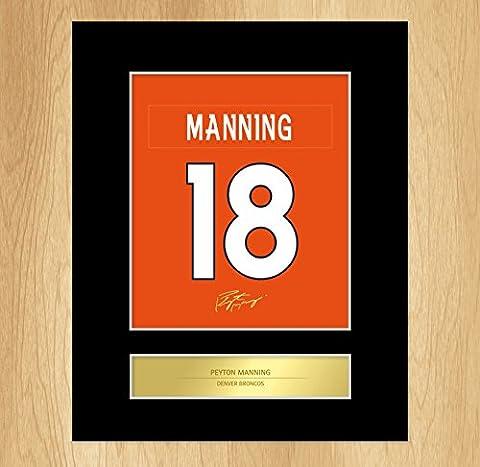 Foto, Design: Peyton Manning Denver Broncos, künstlerische Fotografie mit Passepartout, signiert