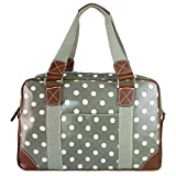 Miss Lulu Ladies Owl Butterfly Floral Polka Dot Print Oilcloth Travel Overnight