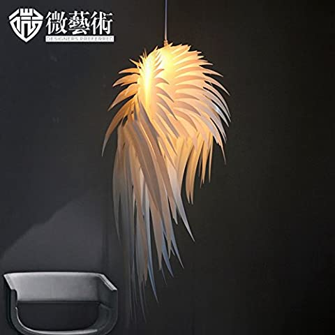 ZQ@QX Restaurant de salon minimaliste moderne élégant éclairage maison décorations vêtements magasin étude pendentif ailes d'ange en plumes 38 *