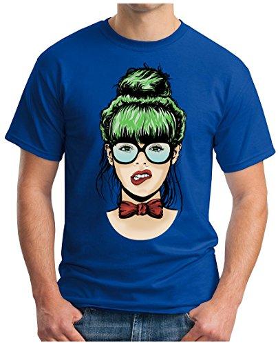 OM3 - DIVA-CHICK - T-Shirt GEEK, S - 5XL Royalblau