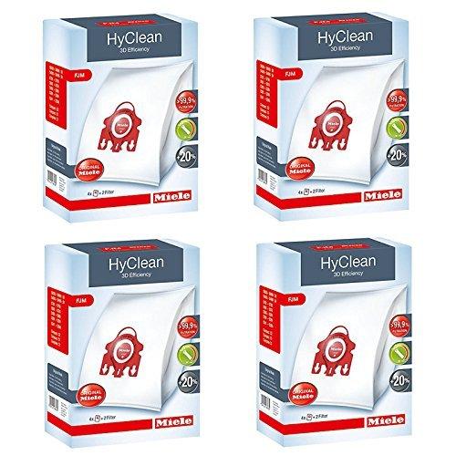 Original Miele FJM Hyclean 3D Efficiency Staubsauger Staubsaugerbeutel (1, 2, 3, 4 oder 5 Boxen + Optional Erfrischung)-