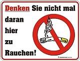 Fun Schild, Blechschild Alu geprägt + bedruckt Spruch /NEU/ Nicht Rauchen !