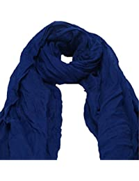 ZARU Bufanda de algodón para mujer Bufanda de abrigo suave Caramelo Colores Bufanda Larga