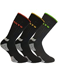 Mens 3 Pack KATO Warm Hard-Wearing Cushioned Support Winter Work Boot Socks