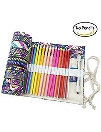 Zedtom Estuche con 72agujeros para lápices, estuche portalápices, de tela (Nota: sin lápices), color Multicolor-48